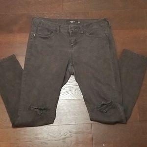 TORRID Black Distressed Skinny Jeans